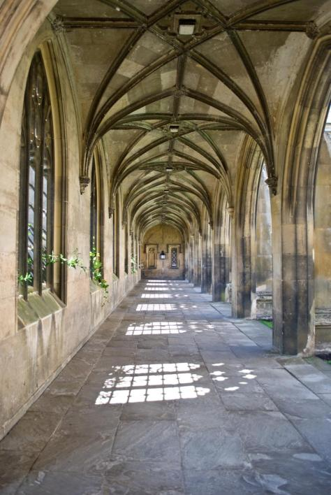 St Johns College colonnade