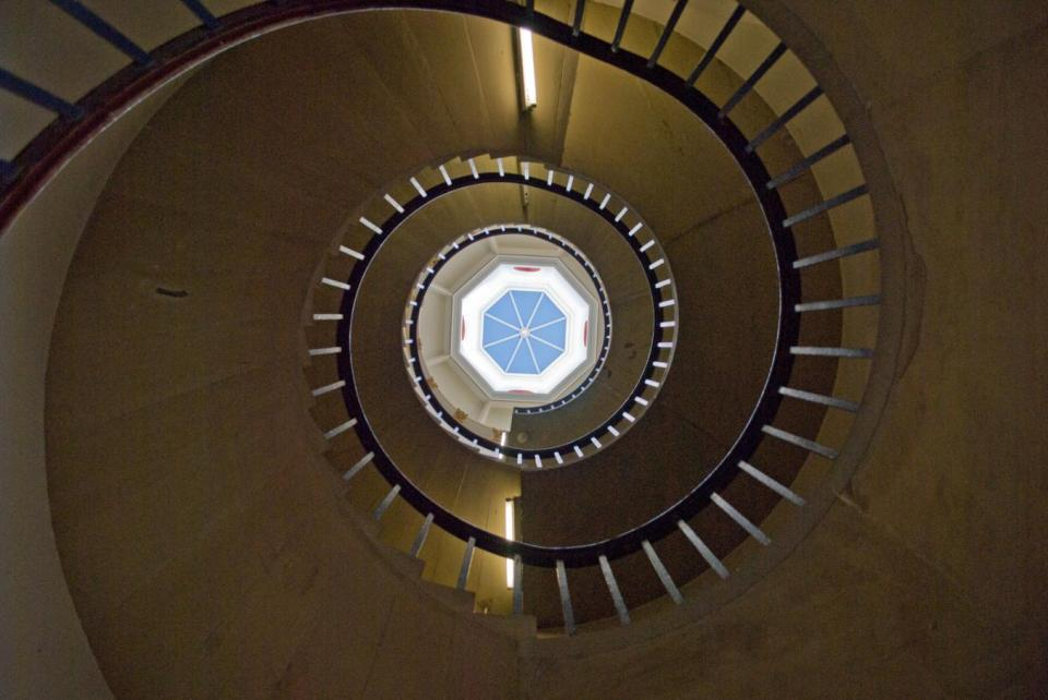 Spiral staircase to the Master's quarters