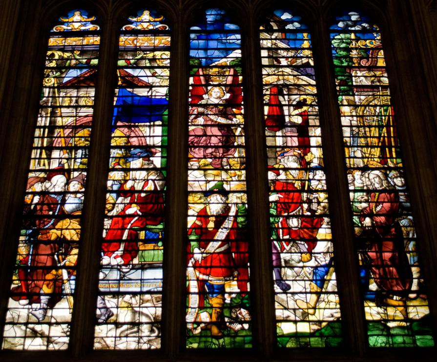 Kings college Stained Glass
