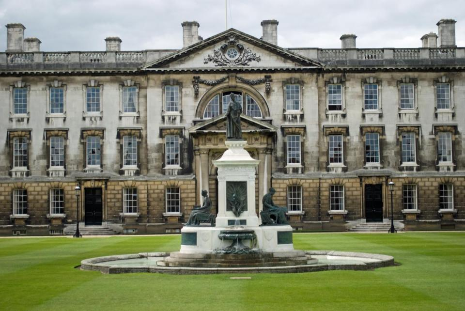 Gibbs building fountain, Front Court, Kings College