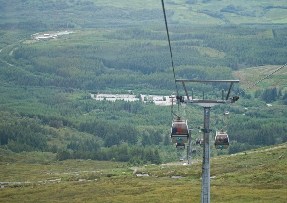 The Gondola ride up to Aonach Mor part of the Nevis range