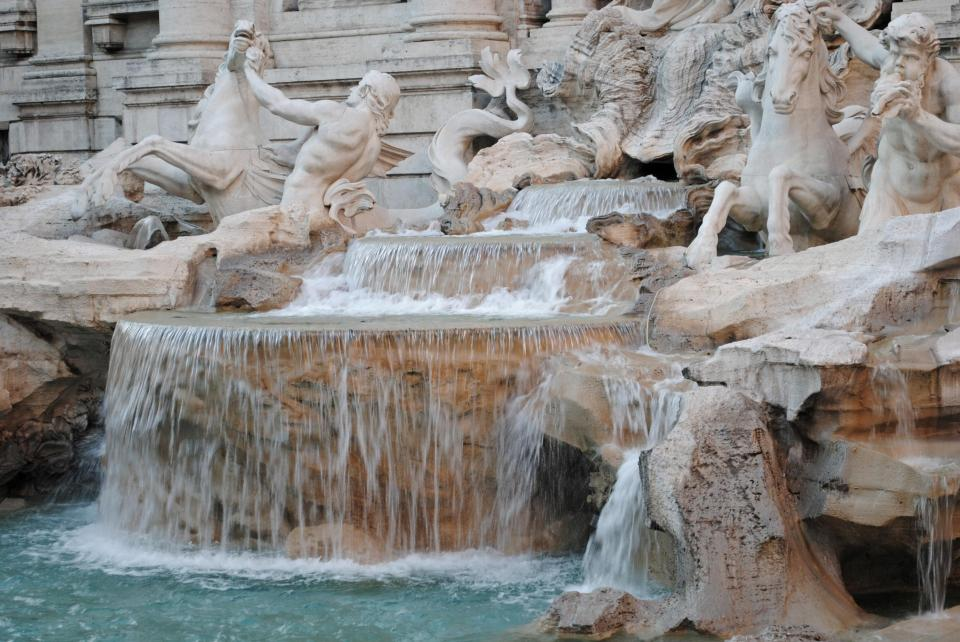 The Trevi fountain of course!