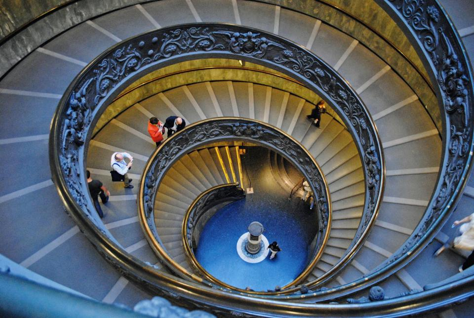 Spiral staircase in the Vatican Museum!