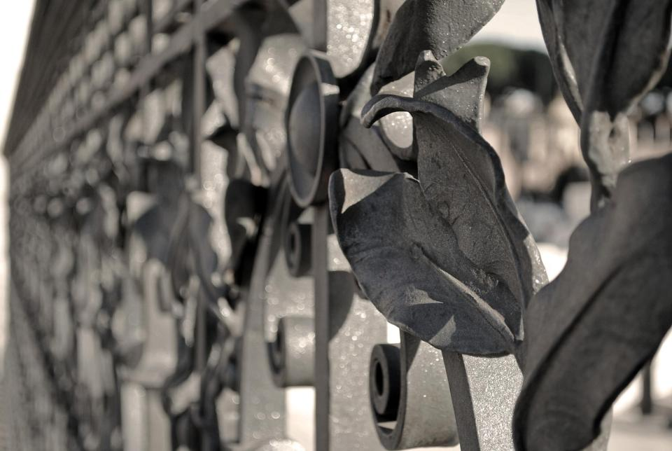 Decorative railings outside the Vittorio Emanuele II monument