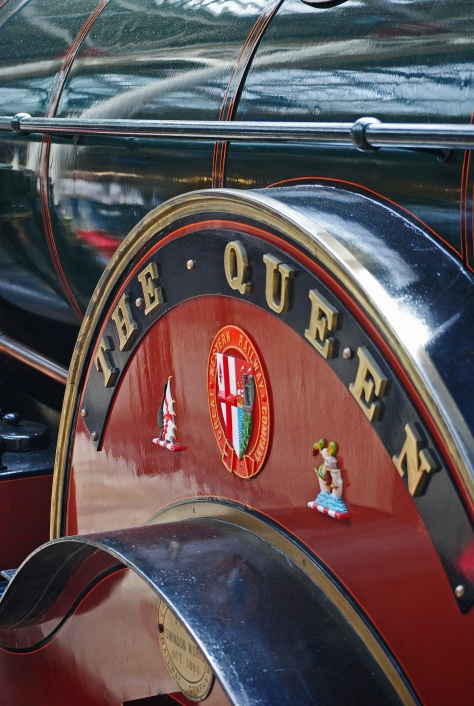 """The Queen"""" - replica of the engine which used to pull the Queen's train"""