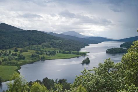 The Queens View and Loch Tummel