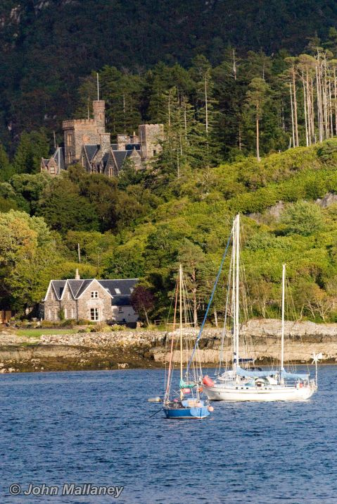 Duncraig castle across the bay of Plockton