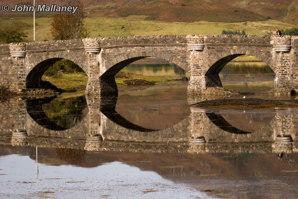 Reflection of Eilean Donan footbridge