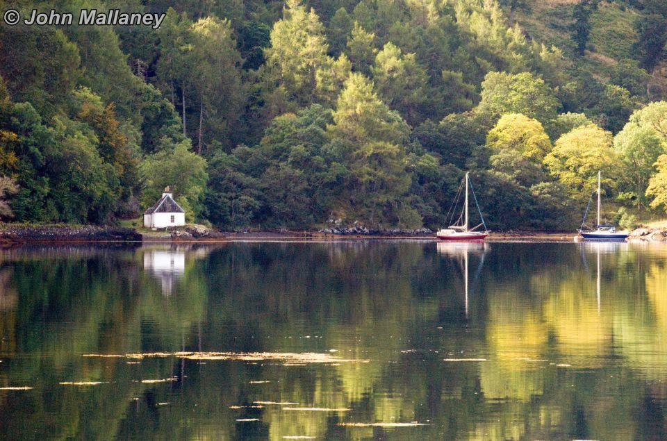 Loch Duich which surrounds Eilean Donan