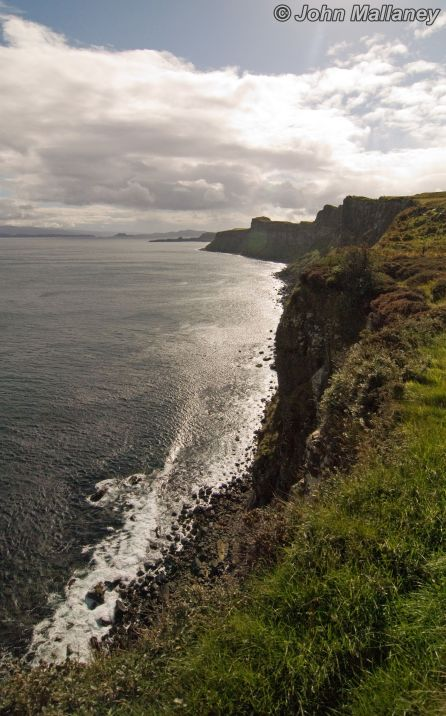 Kilt rock coastline