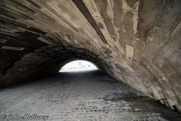 Under Pont Neuf bridge