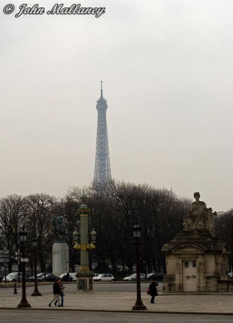 The Eiffel from place de Concorde