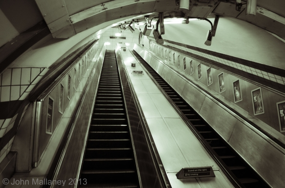 Escalator, Piccadilly Ciricus underground station
