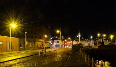 Night shot at City Quay