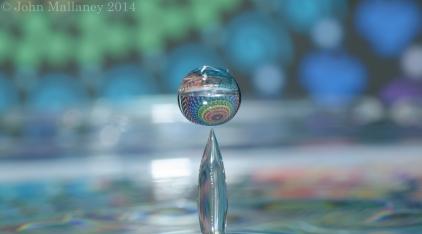 Macro water droplet