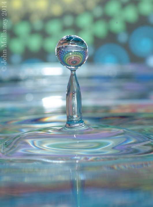 Macro water droplet