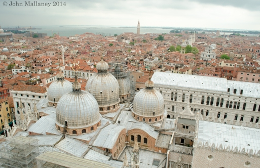 The rooftop of St Mark's Basilica