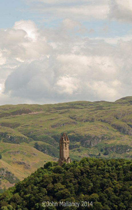 View towards the Wallace Monument