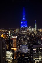 The Empire State building with One World Trade Center in the background