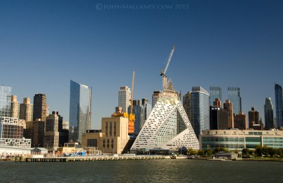 A new residential scraper under construction on W57 aka the Tetrahedron - Pyramid