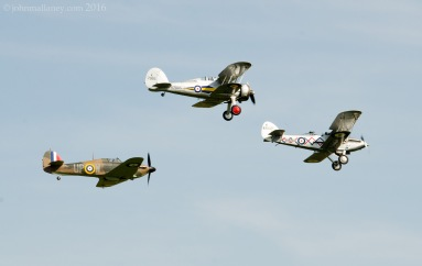 Hawker Demon and Hawker Hurricane and Gloster Gladiator MK1