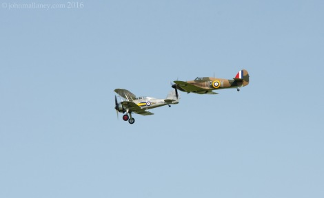 Hawker Hurricane and Gloster Gladiator MK1
