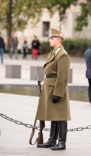 On Guard - Parliament Building, Budapest.