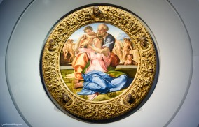 Michelangelo Buonarroti_ Holy Family with the young St John the Baptist